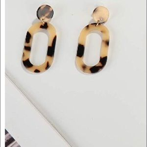 Jewelry - NWT STATEMENT ACRYLIC DROP DANGLE RESIN EARRINGS